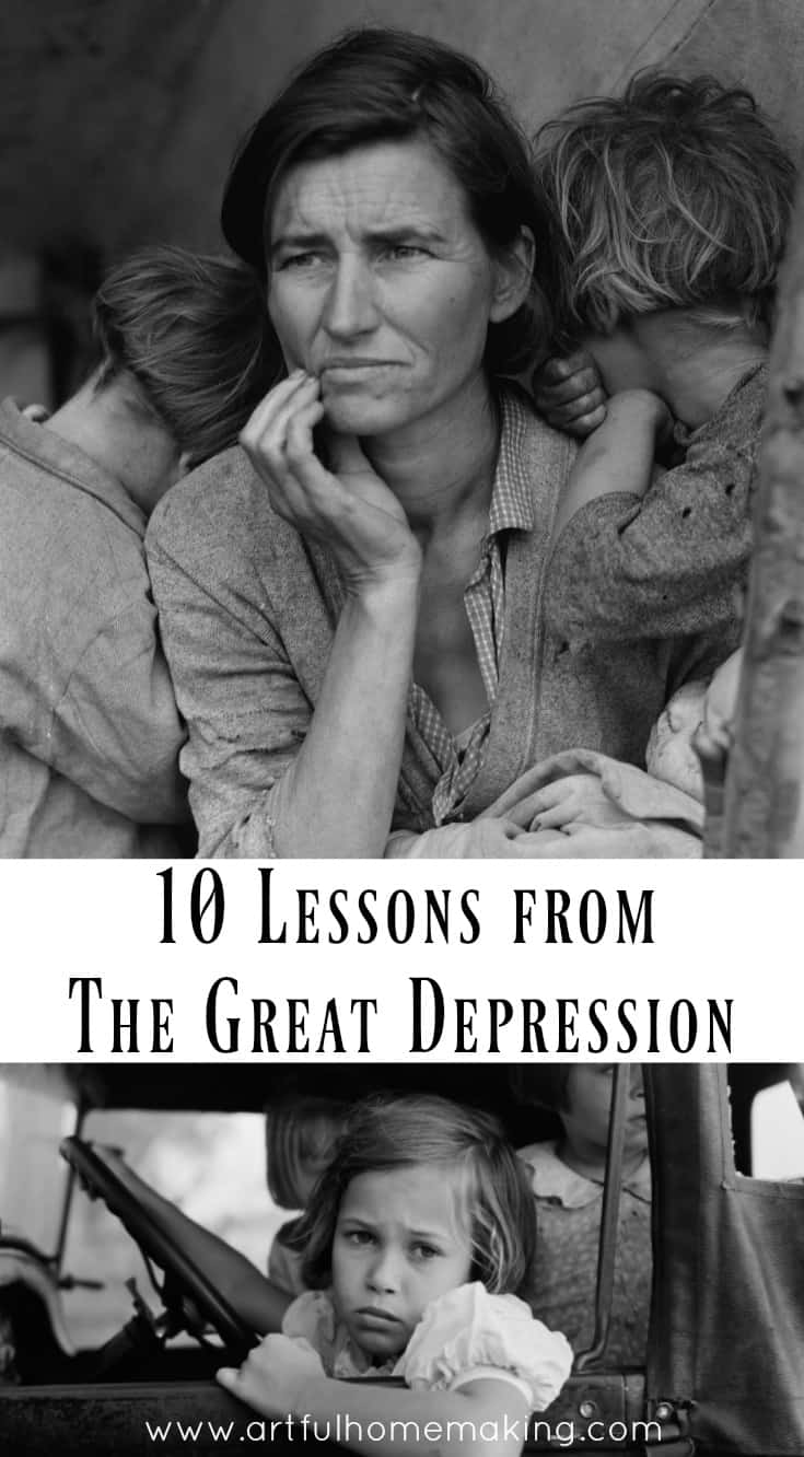 10 Lessons from The Great Depression to help you live well in the modern world.