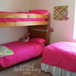 Pottery Barn Inspired Girls' Bedroom on a Budget