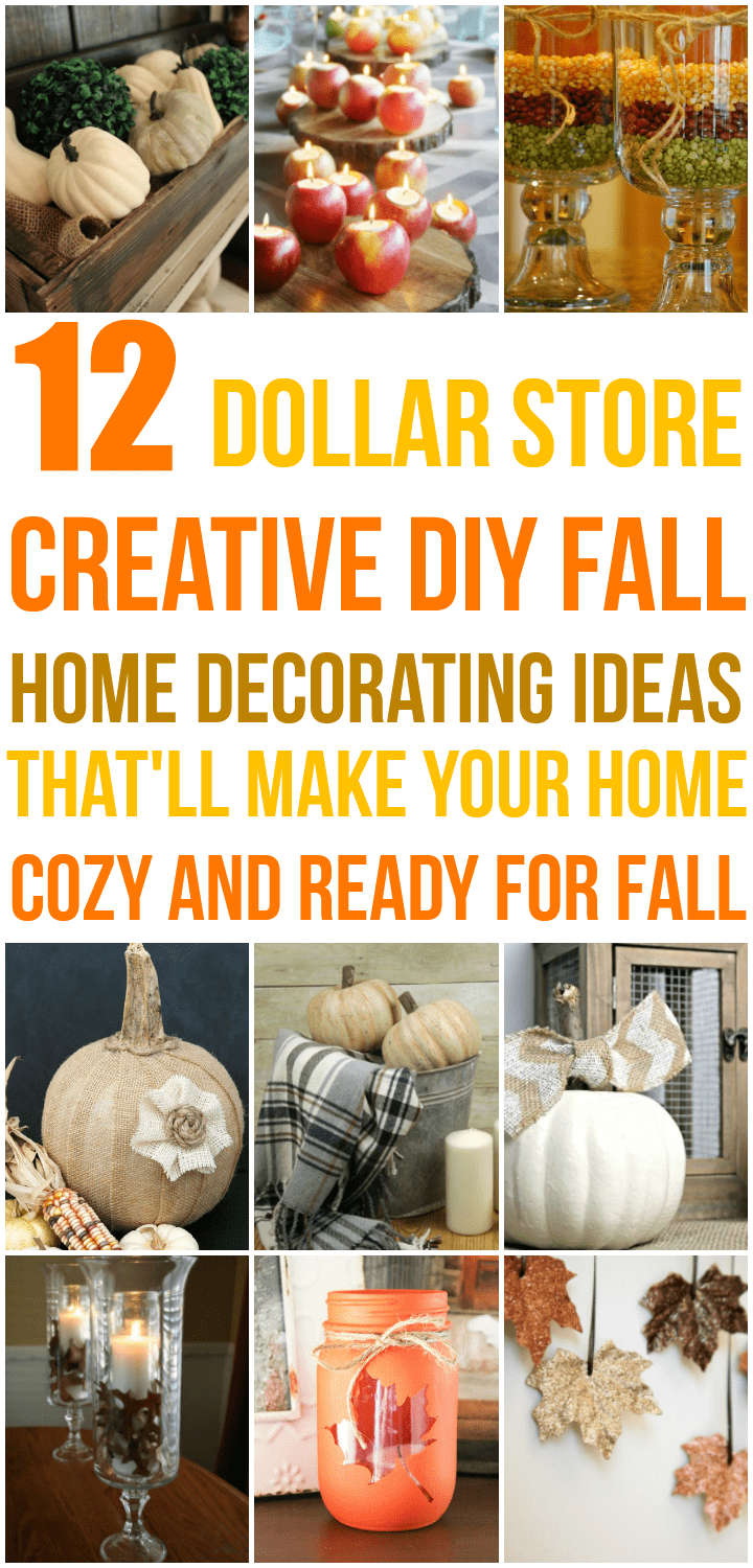 So many awesome budget-friendly fall decor ideas from the dollar store!