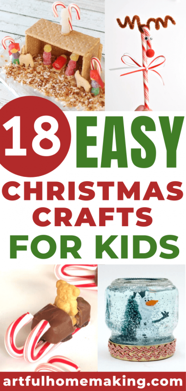 18 easy christmas crafts for kids