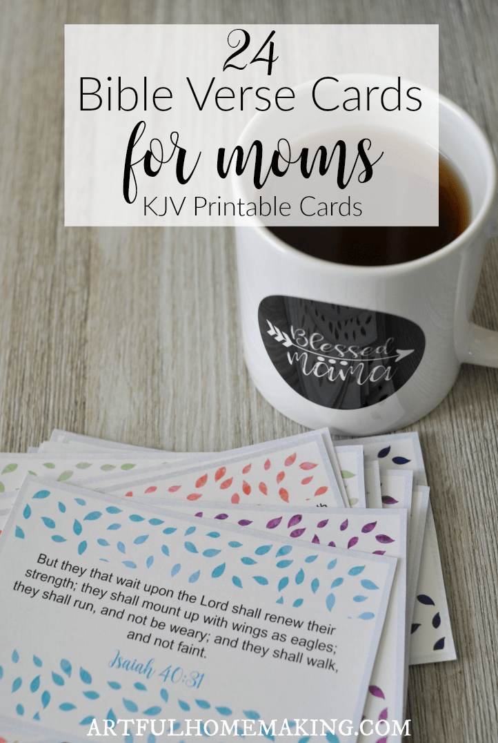 Printable Bible Verse Cards for Moms to encourage you on your journey!