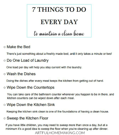 Be Sure To Your Free Printable 7 Things Do Every Day List Below