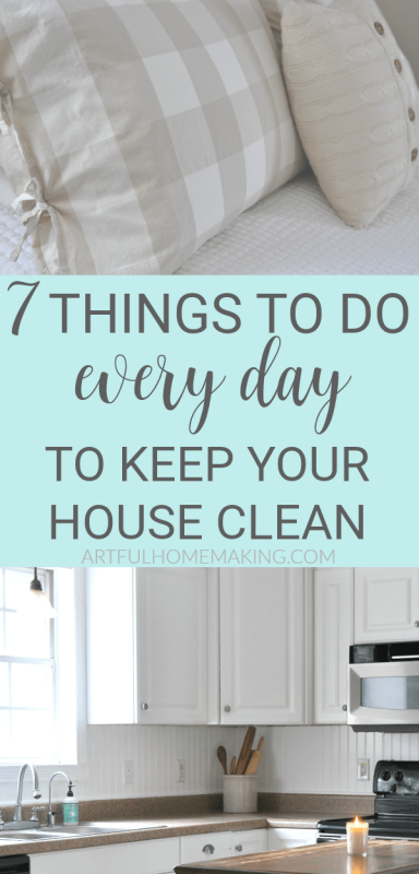 7 Things to Do Every Day to Keep Your House Clean