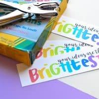 printable teacher gift idea back to school