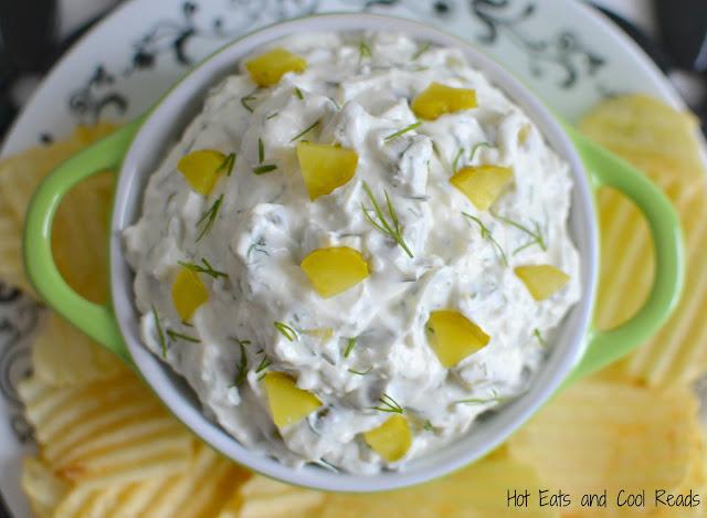 Creamy Dill Pickle Potato Chip Dip