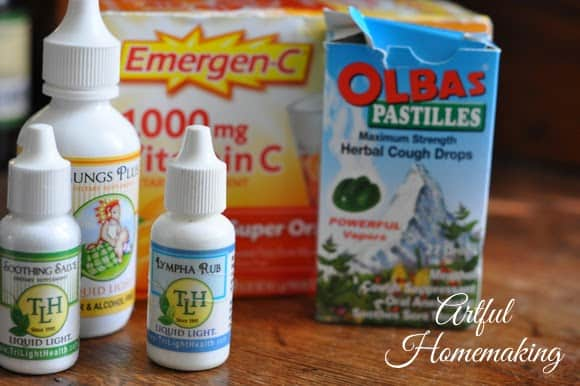 favorite supplies for treating colds and flu