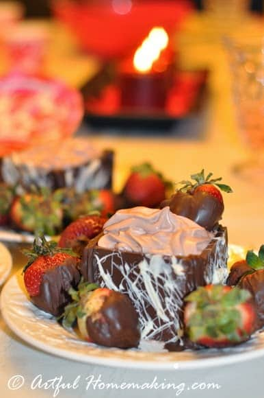 Chocolate Treasure Boxes are a decadent dessert for Valentine's Day!