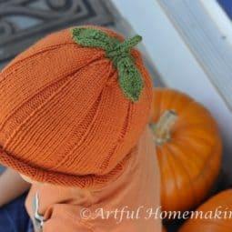 A Finished Pumpkin Hat