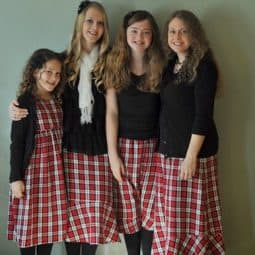 What We Wore {Matching Plaid Christmas Skirts}