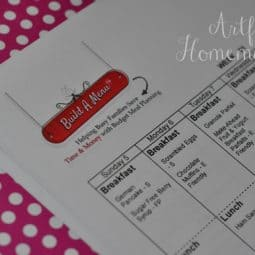 Meal Planning With Build A Menu {Giveaway!}