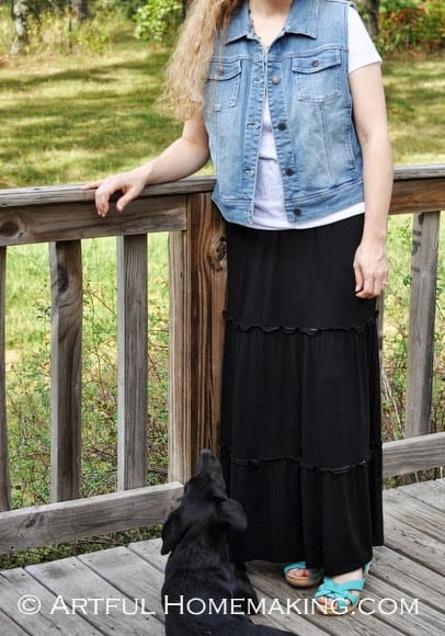What I Wore And A Hair Tutorial Artful Homemaking