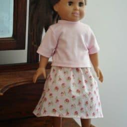 Simple Doll Skirt Tutorial