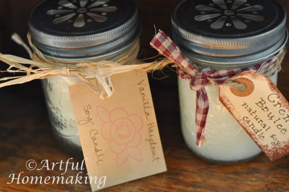 make homemade soy candles