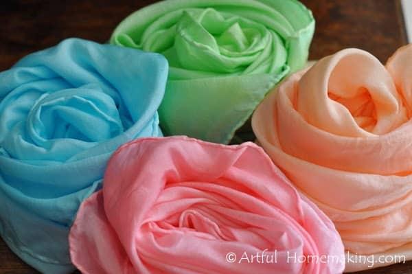 dye playsilks with kool-aid