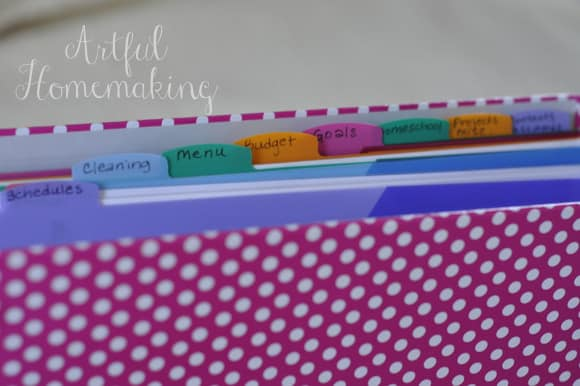homemaking binder