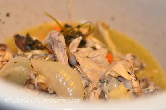 crock pot chicken stock