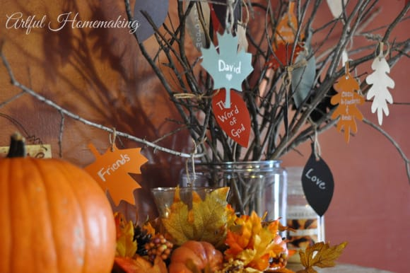 pottery barn inspired thankful tree