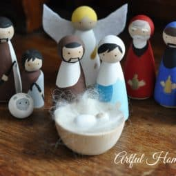Handmade Wooden Nativity Set DIY Tutorial