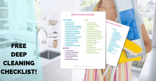 Deep Clean Your House Checklist