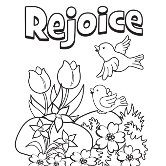 rejoice words with birds printable