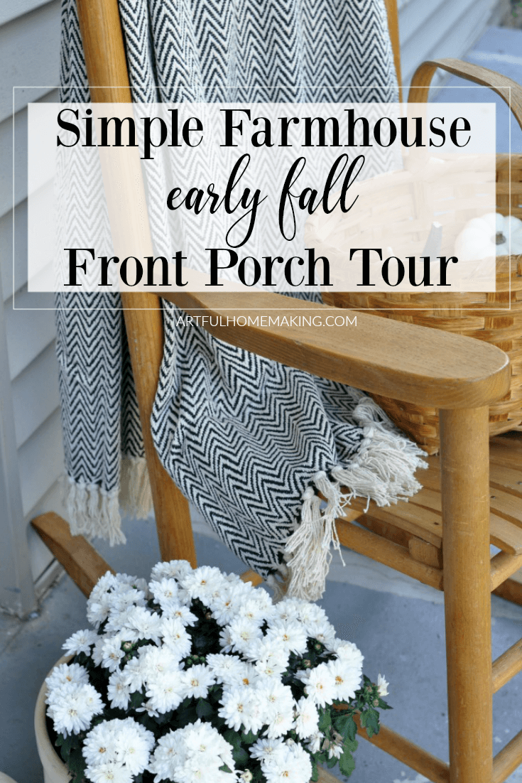 Farmhouse Inspired Fall Front Porch Tour