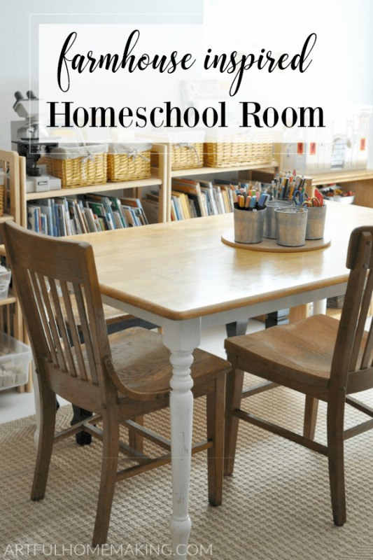 Homeschool Room Tour Farmhouse Inspired