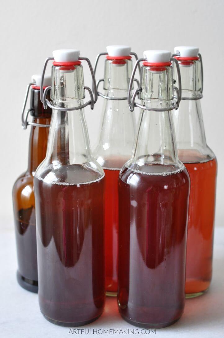 water kefir soda flip top bottles