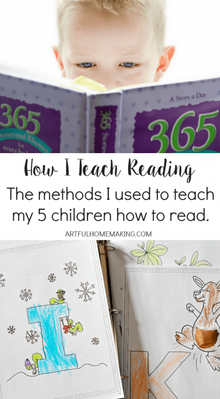 These methods have worked so well for teaching my children to read!