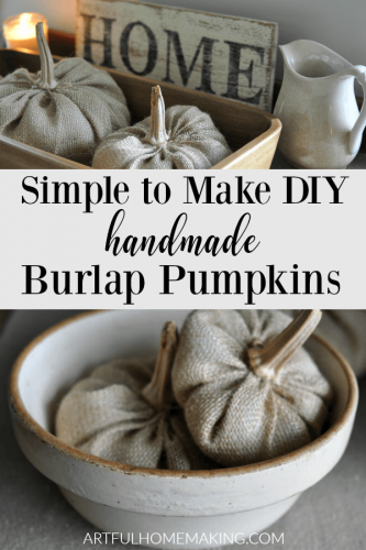 How to Make Burlap Pumpkins Rustic Fall Decor