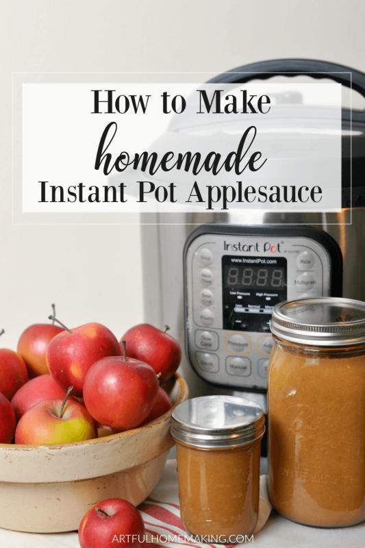 Instant Pot Applesauce with Cinnamon