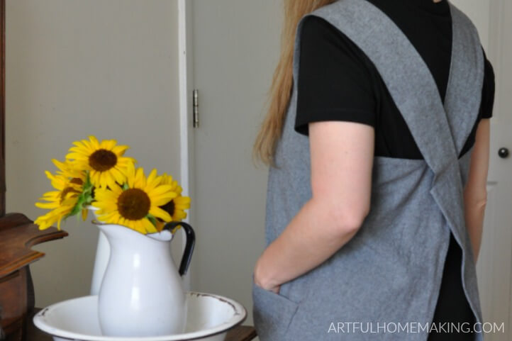 Japanese Linen Pinafore Apron Pattern Tutorial
