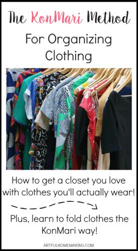 How to organize clothes the KonMari way!