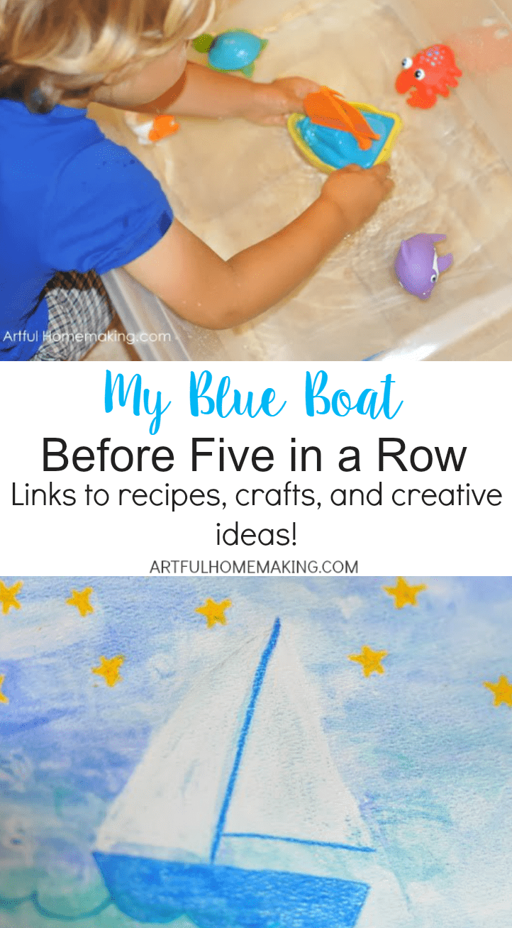 Creative BFIAR ideas for My Blue Boat!