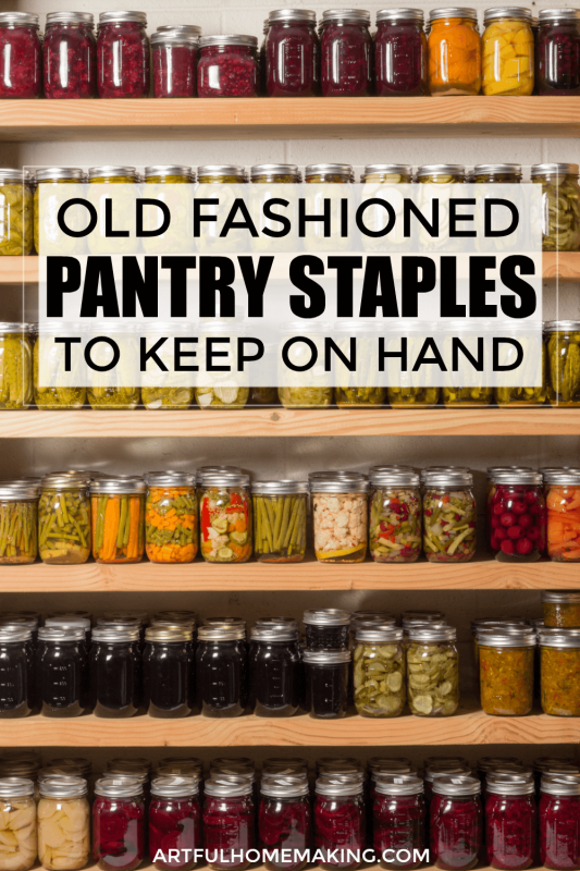 Pantry Staples to Keep on Hand