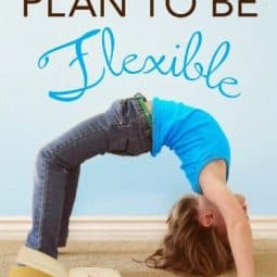 Plan to Be Flexible {Giveaway}