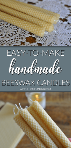 Rolled Beeswax Candles DIY Tutorial