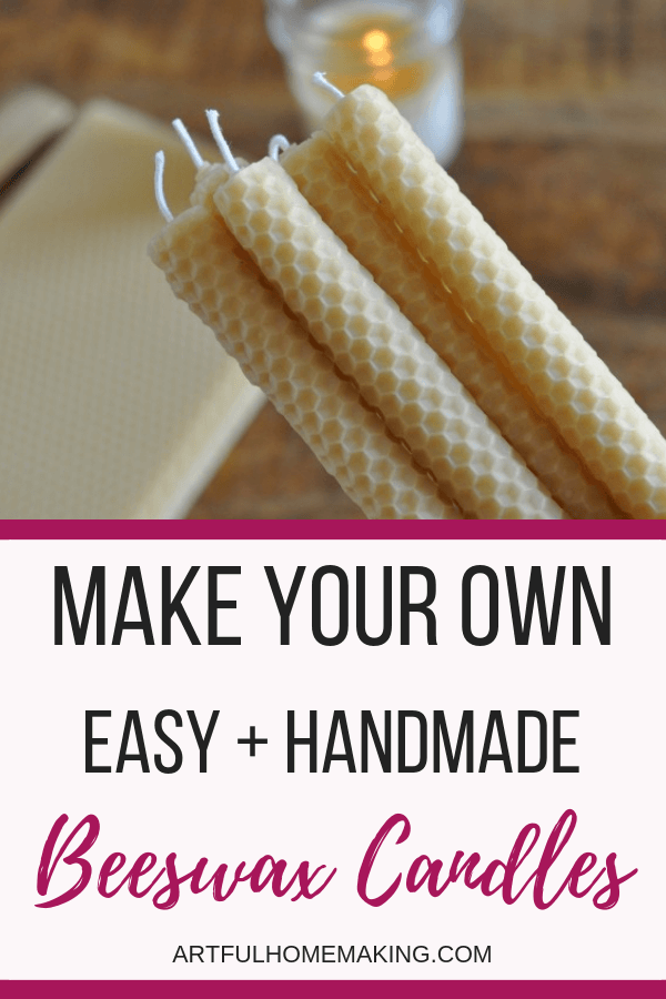 Rolled Beeswax Candles Easy DIY Tutorial