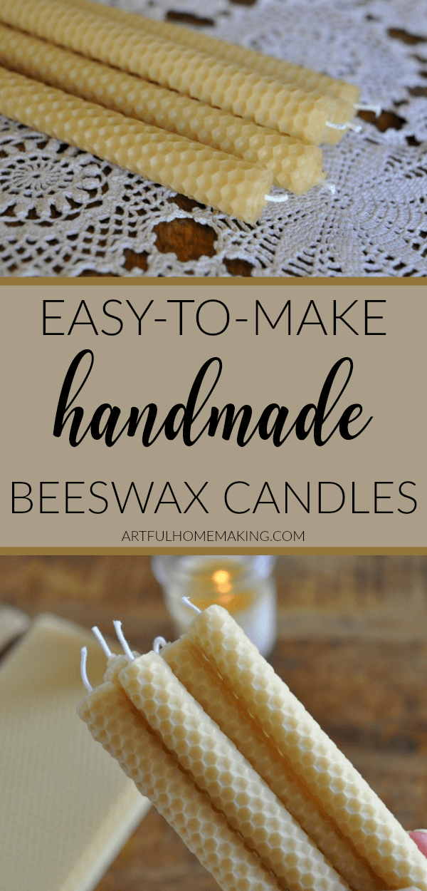 Rolled Beeswax Candles Tutorial