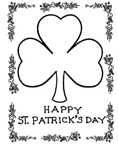 image relating to St Patrick's Day Coloring Pages Printable identified as St. Patricks Working day Coloring Internet pages and Cost-free Printables