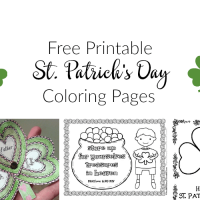 St. Patrick's Day Coloring Pages and Free Printables