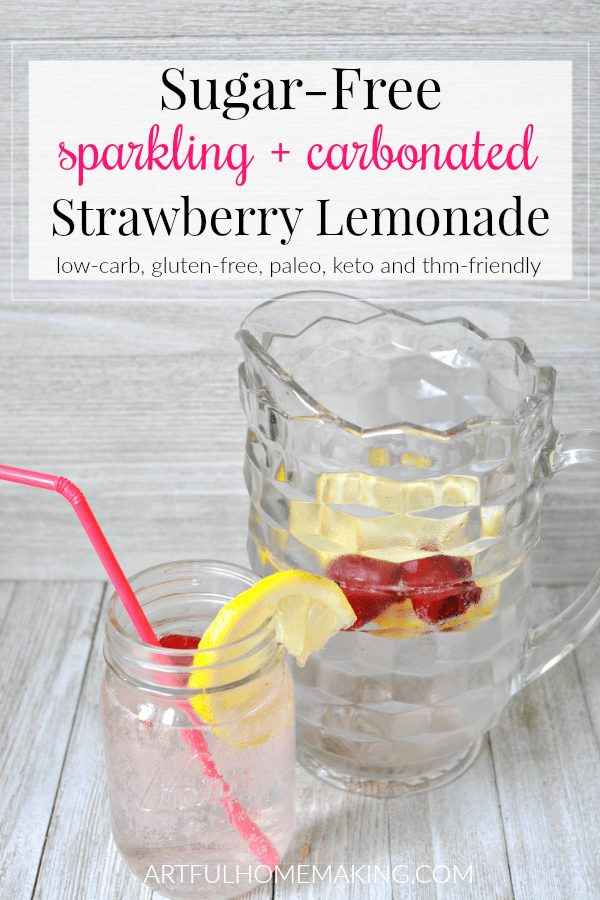 Sugar-Free Sparkling Strawberry Lemonade Recipe