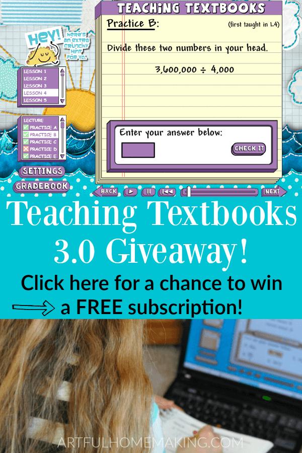 Best Homeschool Math Teaching Textbooks Giveaway