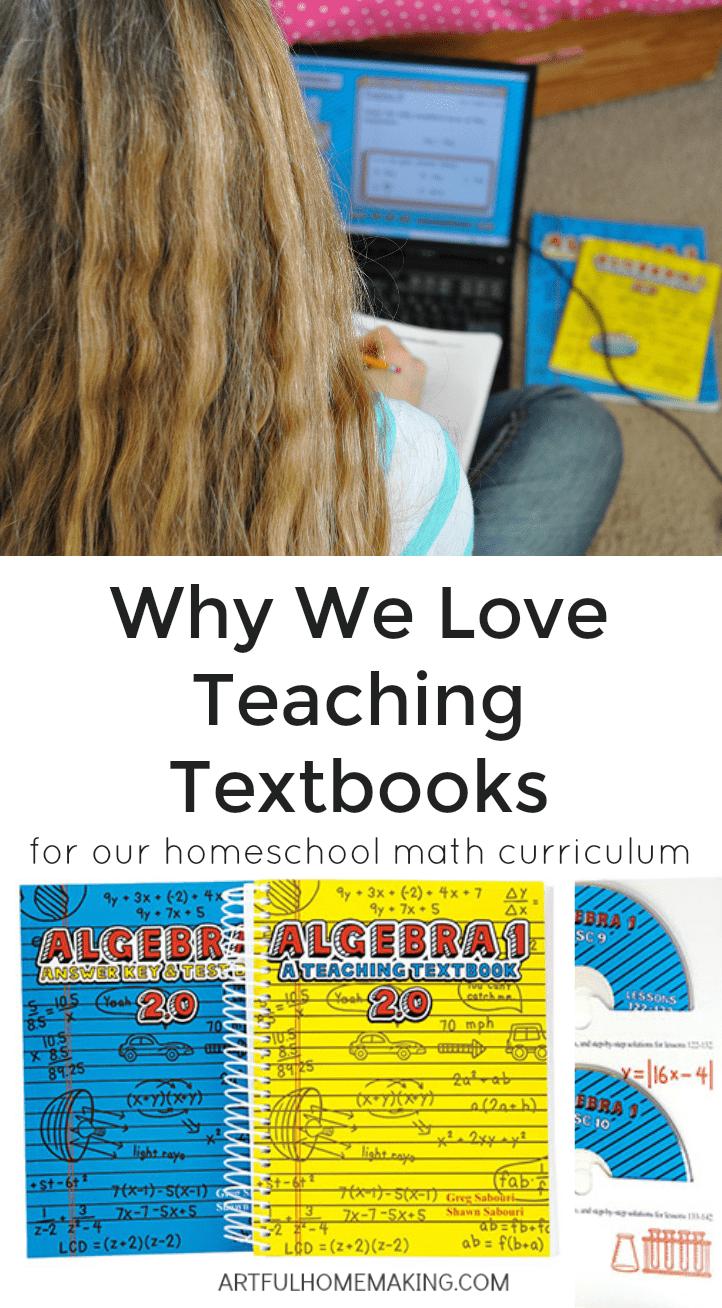 Why we love Teaching Textbooks for homeschool math!