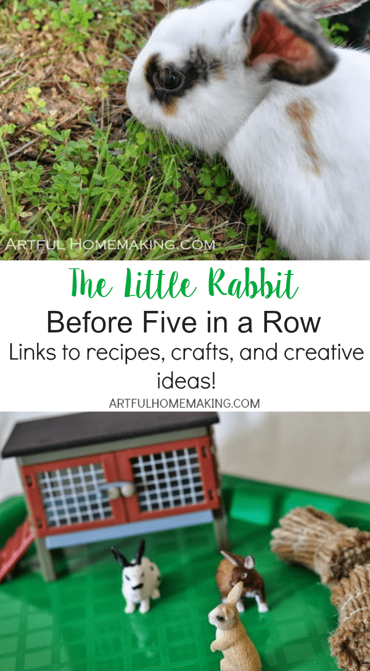 Links to recipes, crafts, and creative ideas for The Little Rabbit BFIAR!