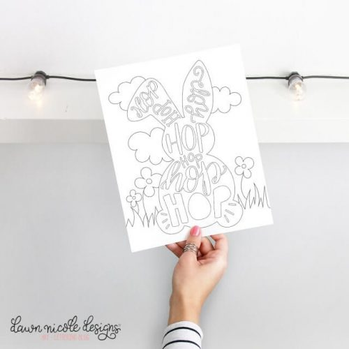 typographic bunny printable