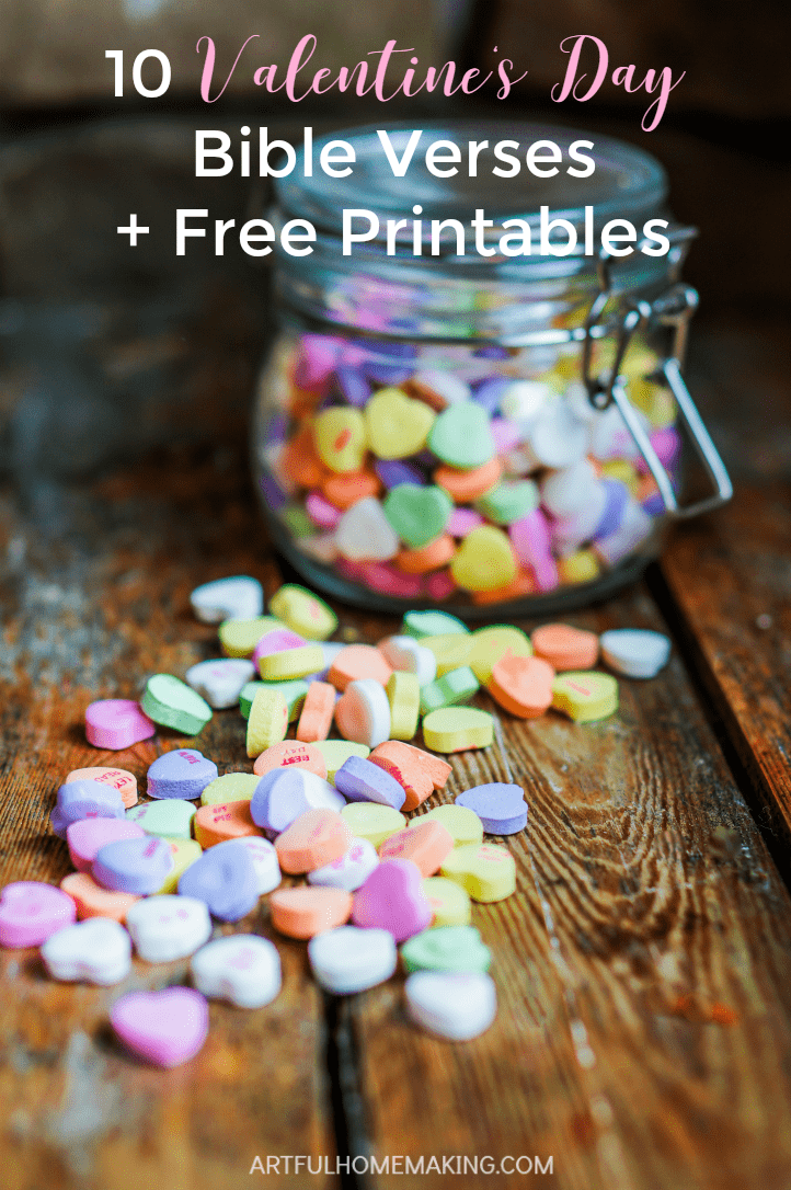 10 Bible Verses and Free Printables for Valentine's Day