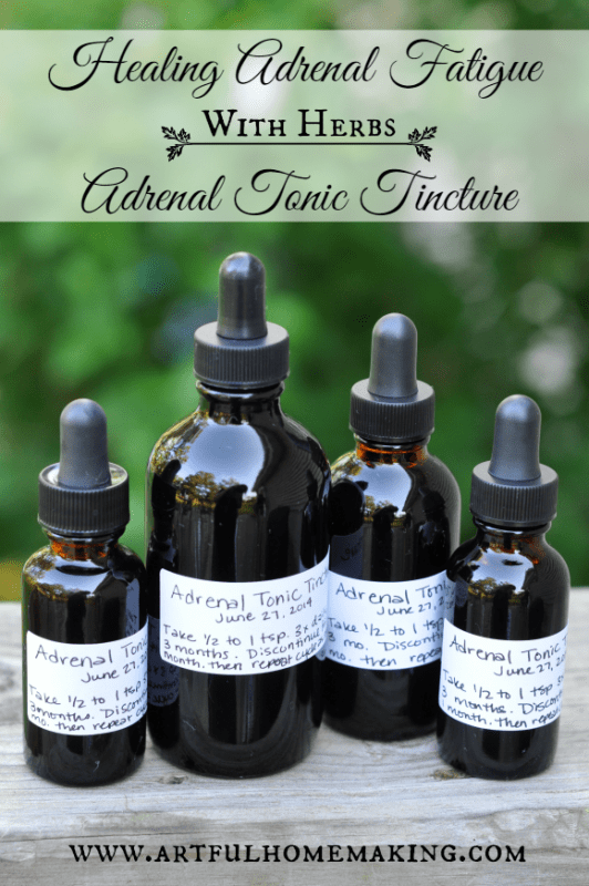 This adrenal fatigue tincture is so easy to make!