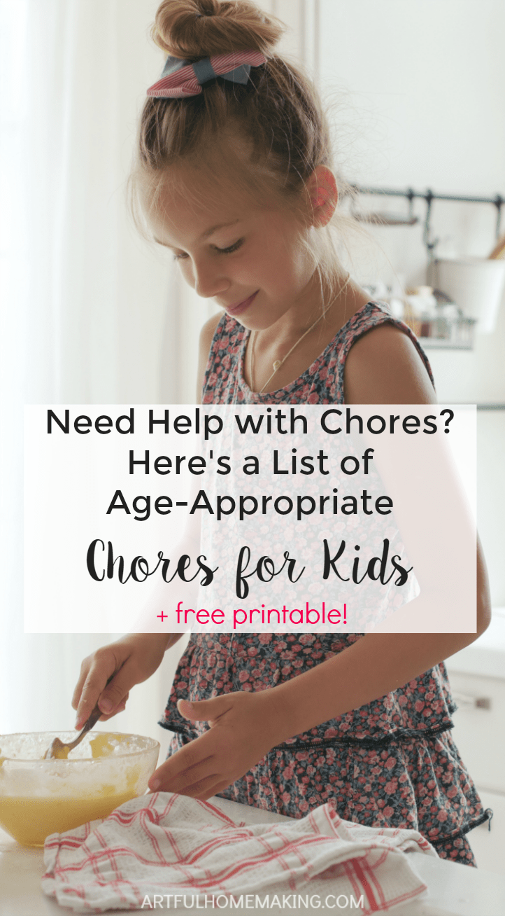 This list is so helpful for deciding which chores to assign!