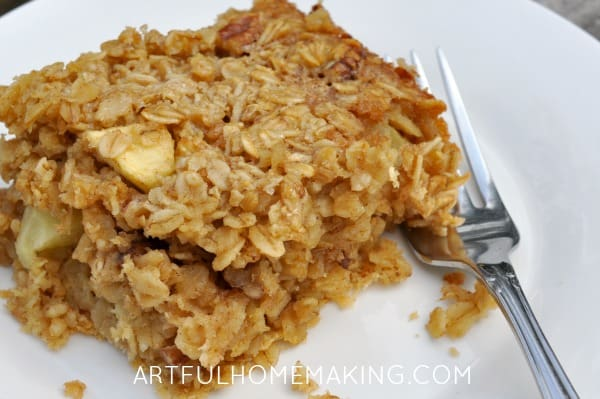 apple pecan baked oatmeal