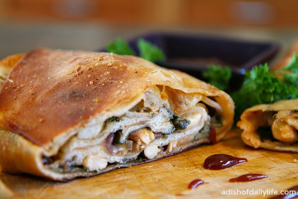 barbeque chicken stromboli
